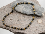 Nellite (Lionskin) Round Bead 8 mm/19 inch Necklace