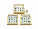 12 Pieces Madagascar Mineral Collection Box - faceted/polished