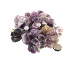 Amethyst Chevron Small Rough Stones (1-2 in) - 1 lb
