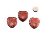 Thulite Heart - 1 pc