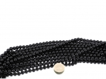 Black Tourmaline Bead Strand 8 mm - 1 pc